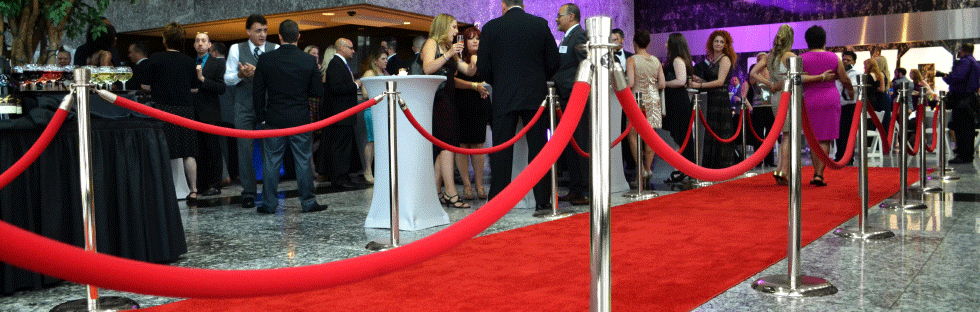 Stanchions with Red Rope